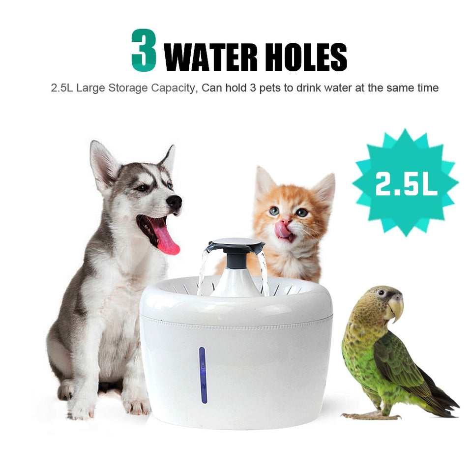 2.5L Automatic Pet Fountain Water Drinking Feeder