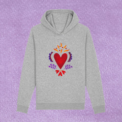 BURNING HEART -UNISEX HOODIE WITH SIDE POCKETS (ORGANIC COTTON)