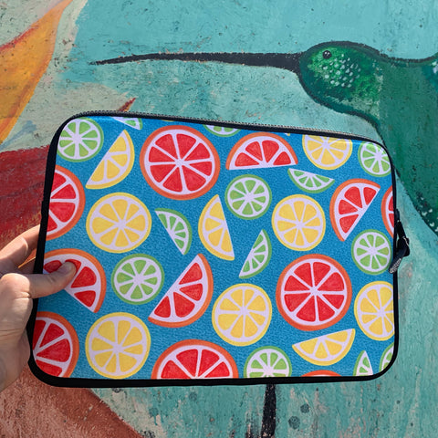 Vitamin C Super Boost - Citric Fruits on Petroleum Laptop Sleeve