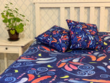 Multicolored Watercolor Paisley Florals Throw Blanket