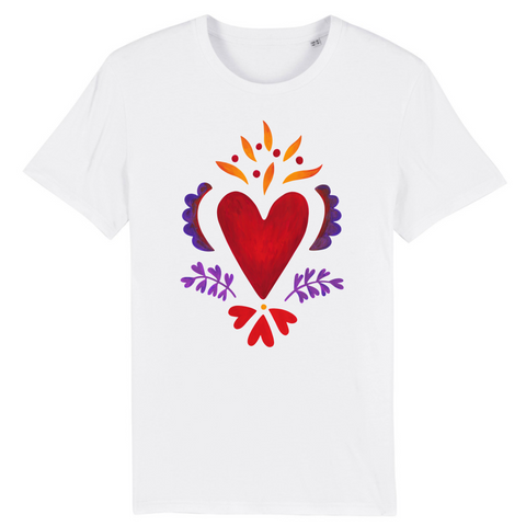 Burning Heart - Unisex T-shirt (100% Organic Cotton)