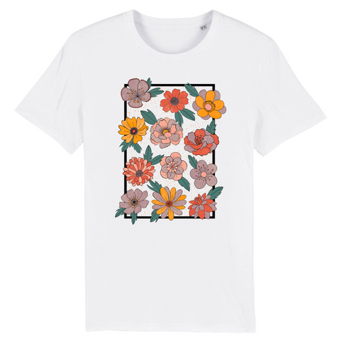Retro Bloom - Unisex T-shirt (100% Organic Cotton)