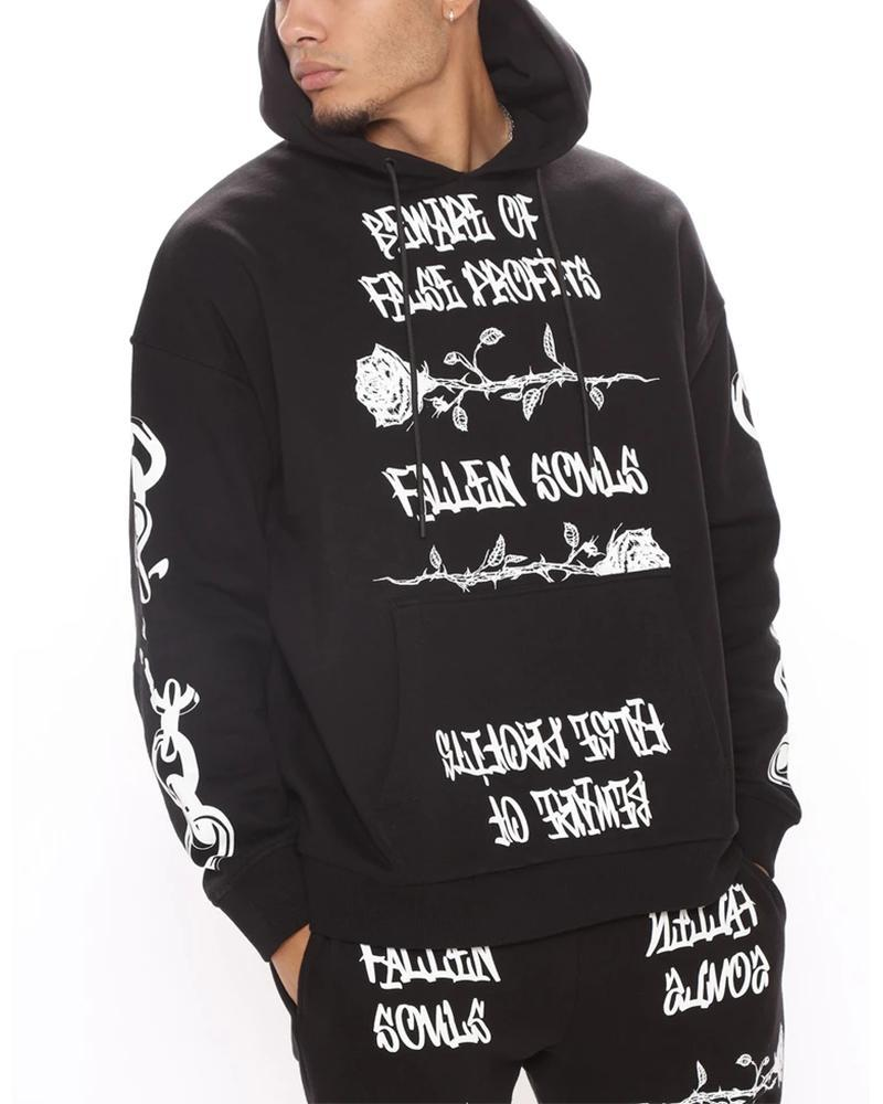 Letter Printing Long Sleeve Sweatshirt Sets
