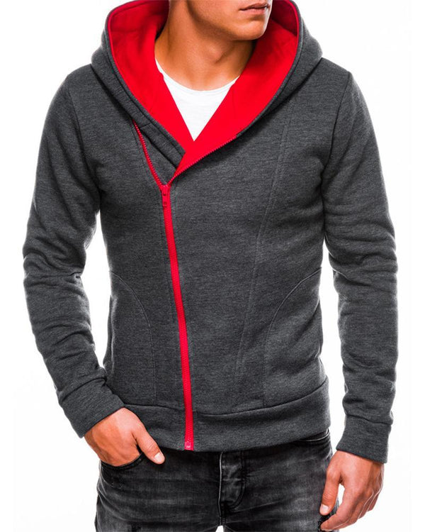 Colorblock Long Sleeve Hooded Sweatshirts Coats