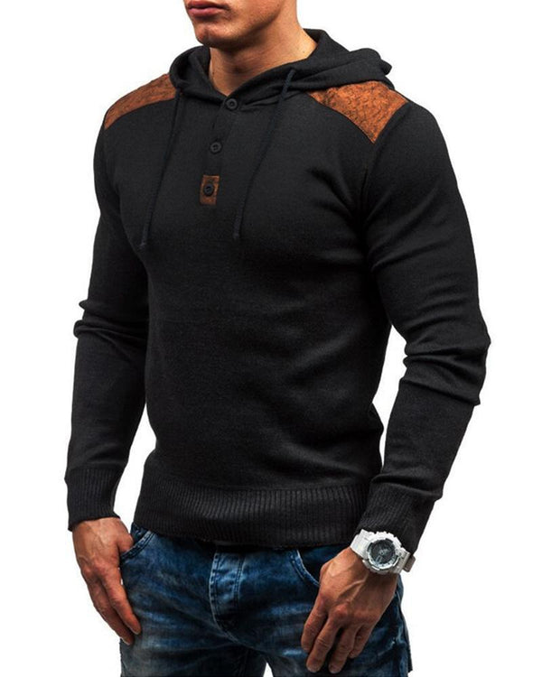 Colorblock Splicing Hoodies Fitting Sweatshirts