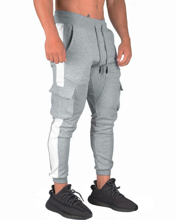 Colorblock Skinny Drawstring Sporty Jogger Pants