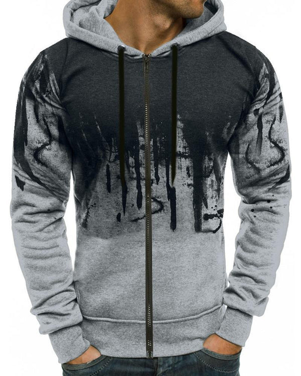 Splash Ink Printing Long Sleeve Coats