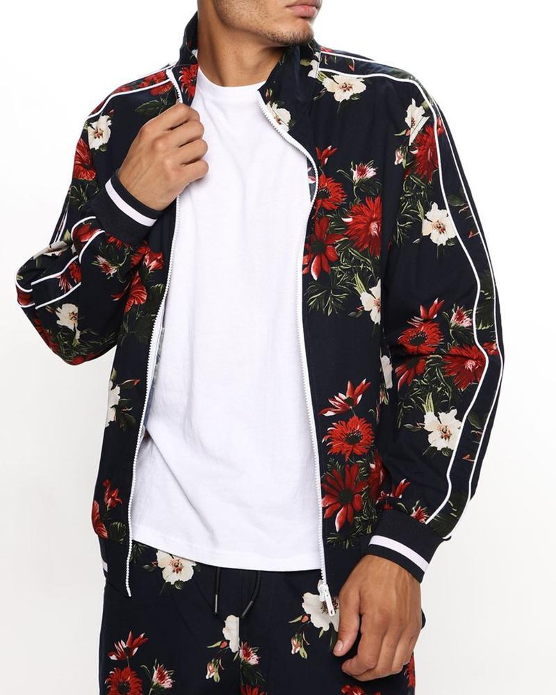 Floral Printing Long Sleeve Jacket