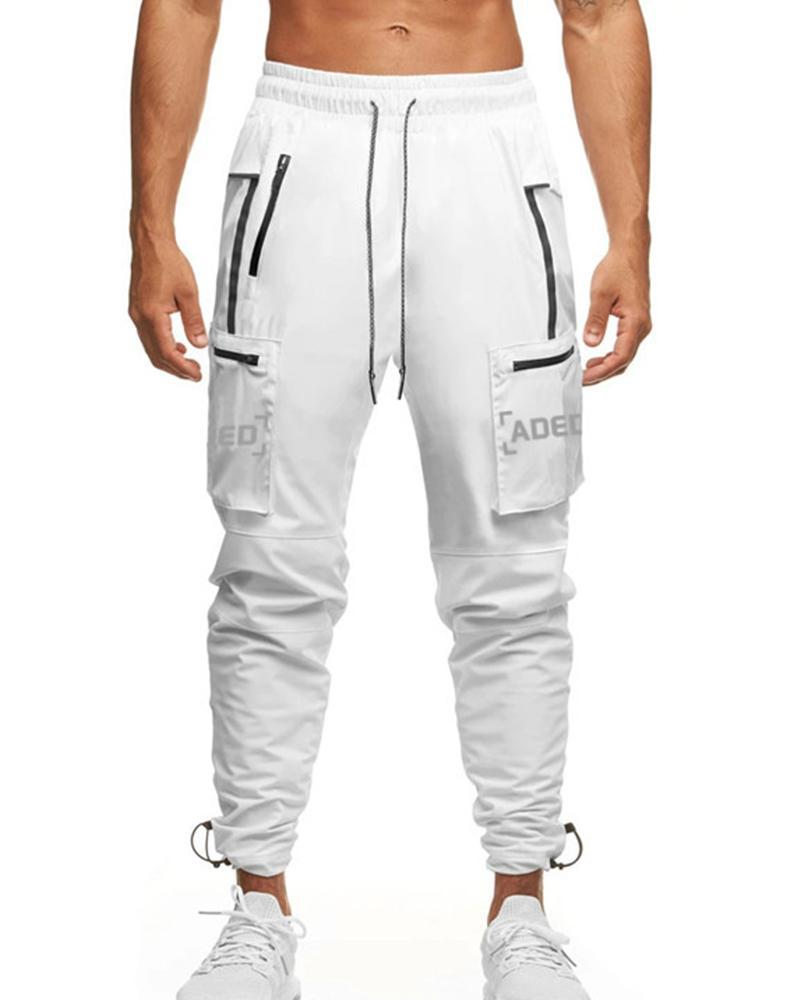 Color Border Loose Jogger Pants