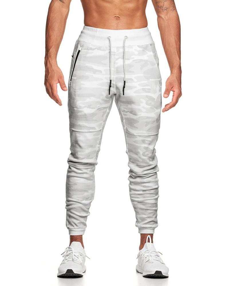 Solid Skinny Drawstring Cargo Pants