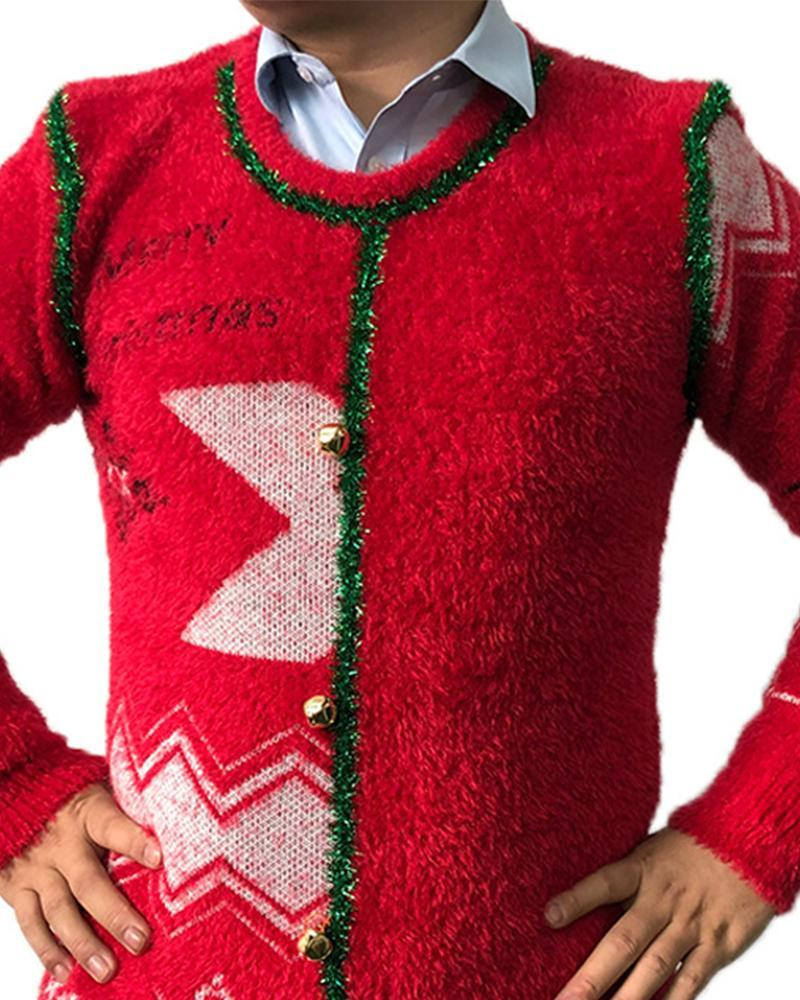 Christmas Patterns Long Sleeve Sweaters