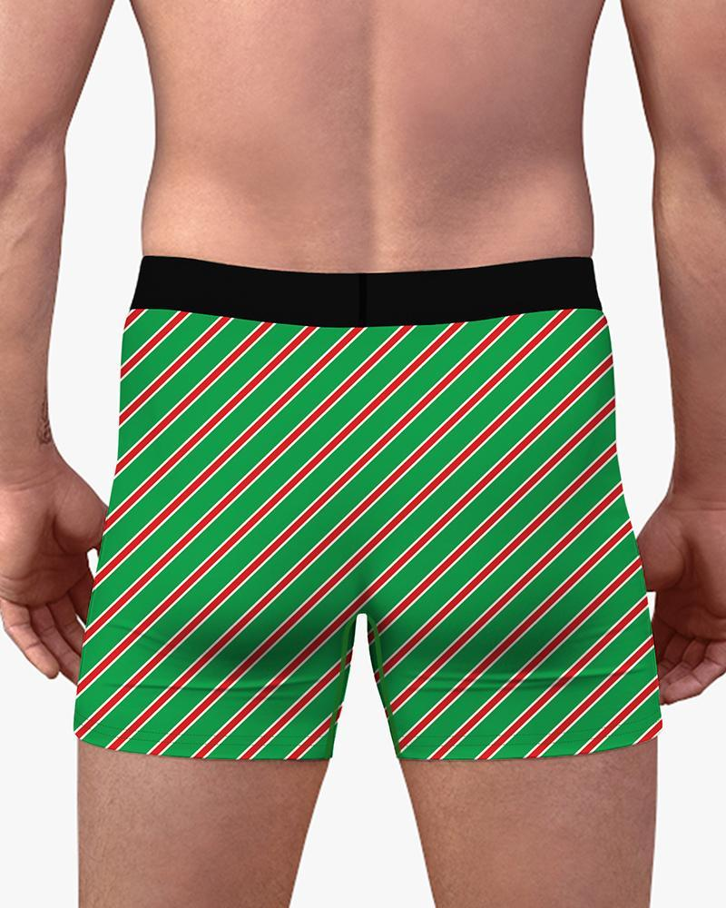 Christmas Patterns Skinny Underwear Boxer Shorts