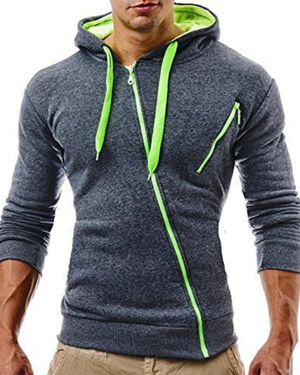 Colorblock Long Sleeve Loose Hoodies Sweatshirts Coats