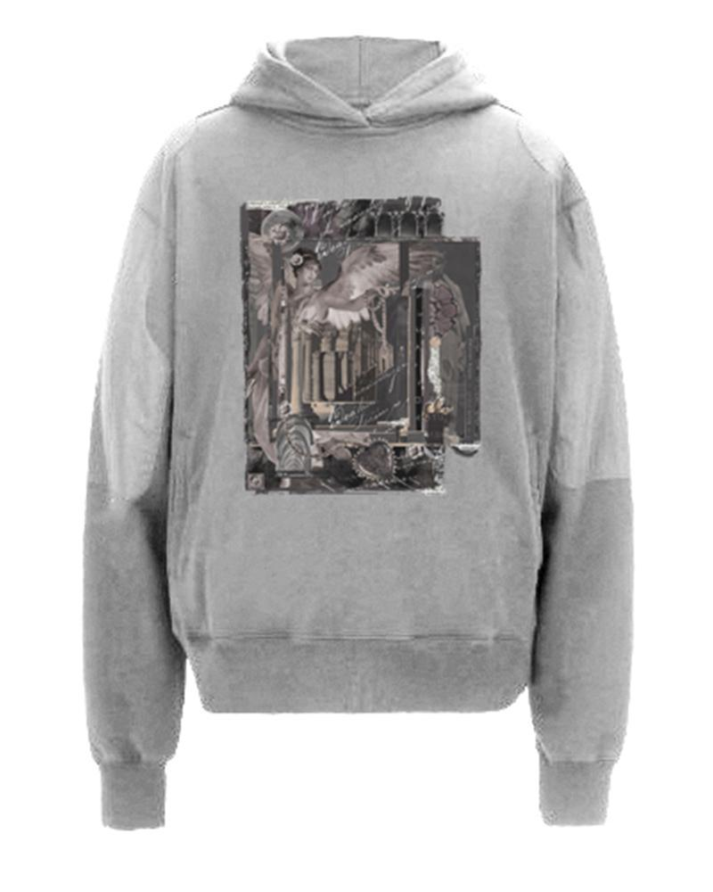 Printing Long Sleeve Hooded Sweatshirt