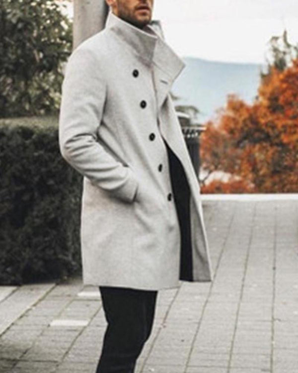 Solid Long Sleeve Fitting Duffle Coats