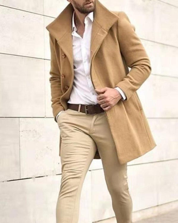 Casual Solid Color Long Sleeve Jacket