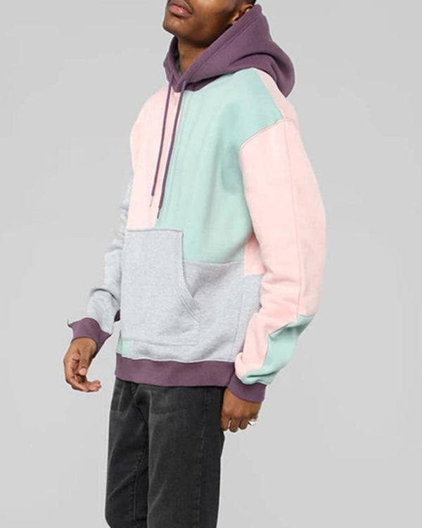 Colorblock Long Sleeve Hoodies Sweatshirt