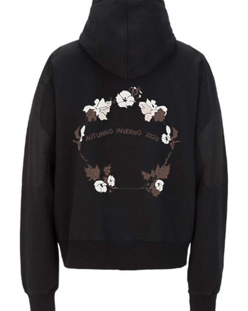 Flower Printing Long Sleeve Sweatshirt