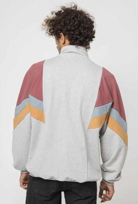 Colorblock Long Sleeve Windreaker Coats