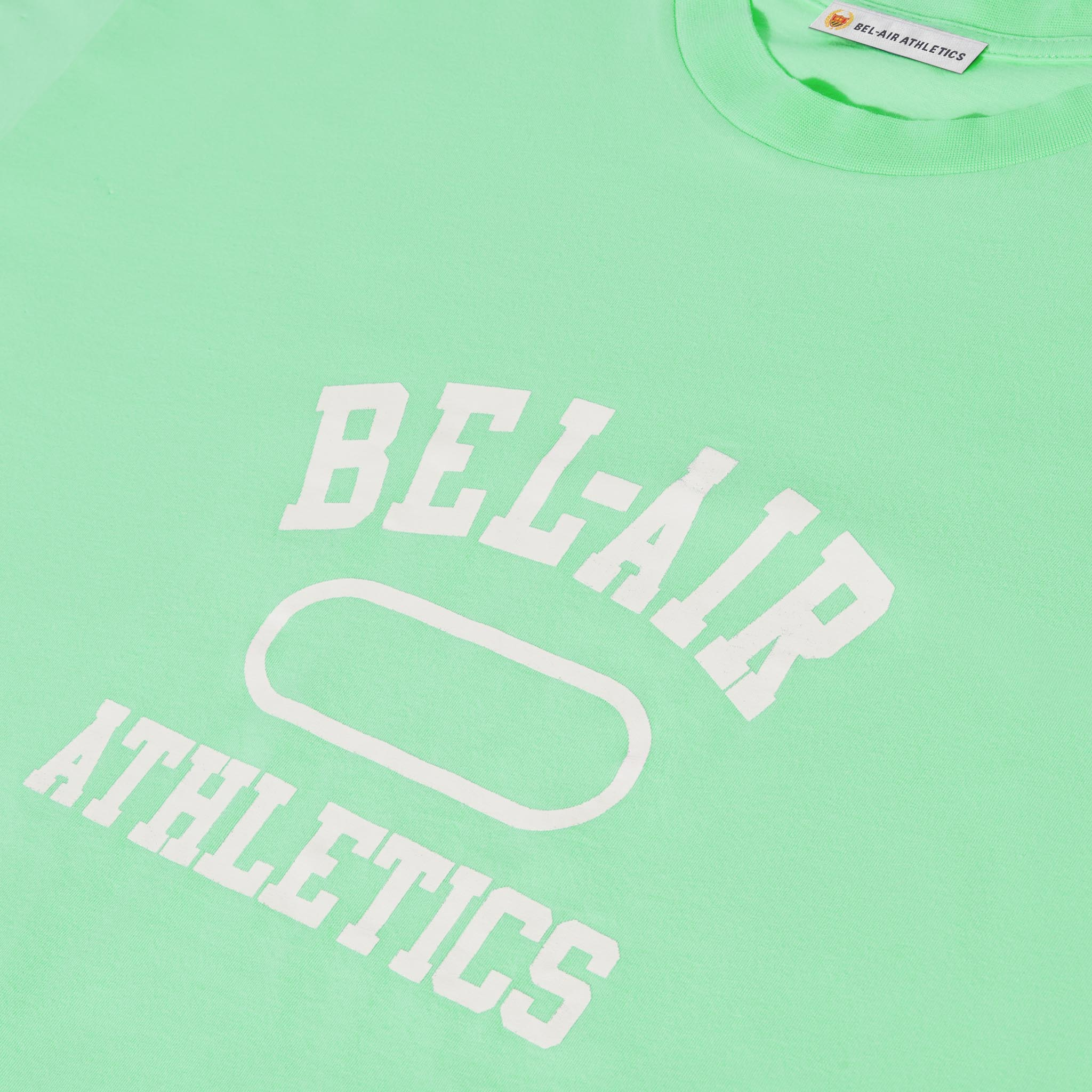 Gym Logo T-Shirt - Pastel Green with Chalk White print