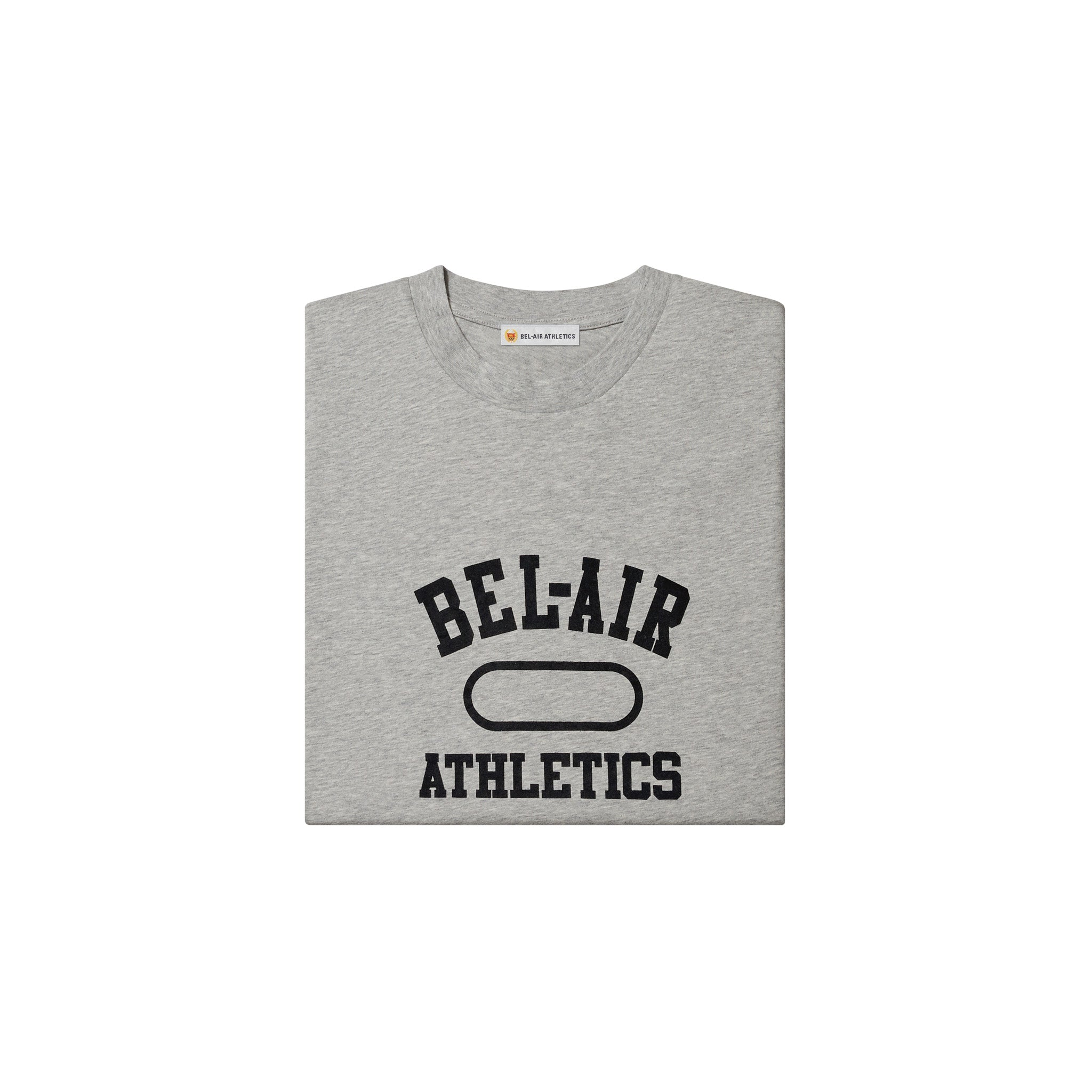 Gym Logo T-Shirt - Athletic Grey with Bel-Air Blue print