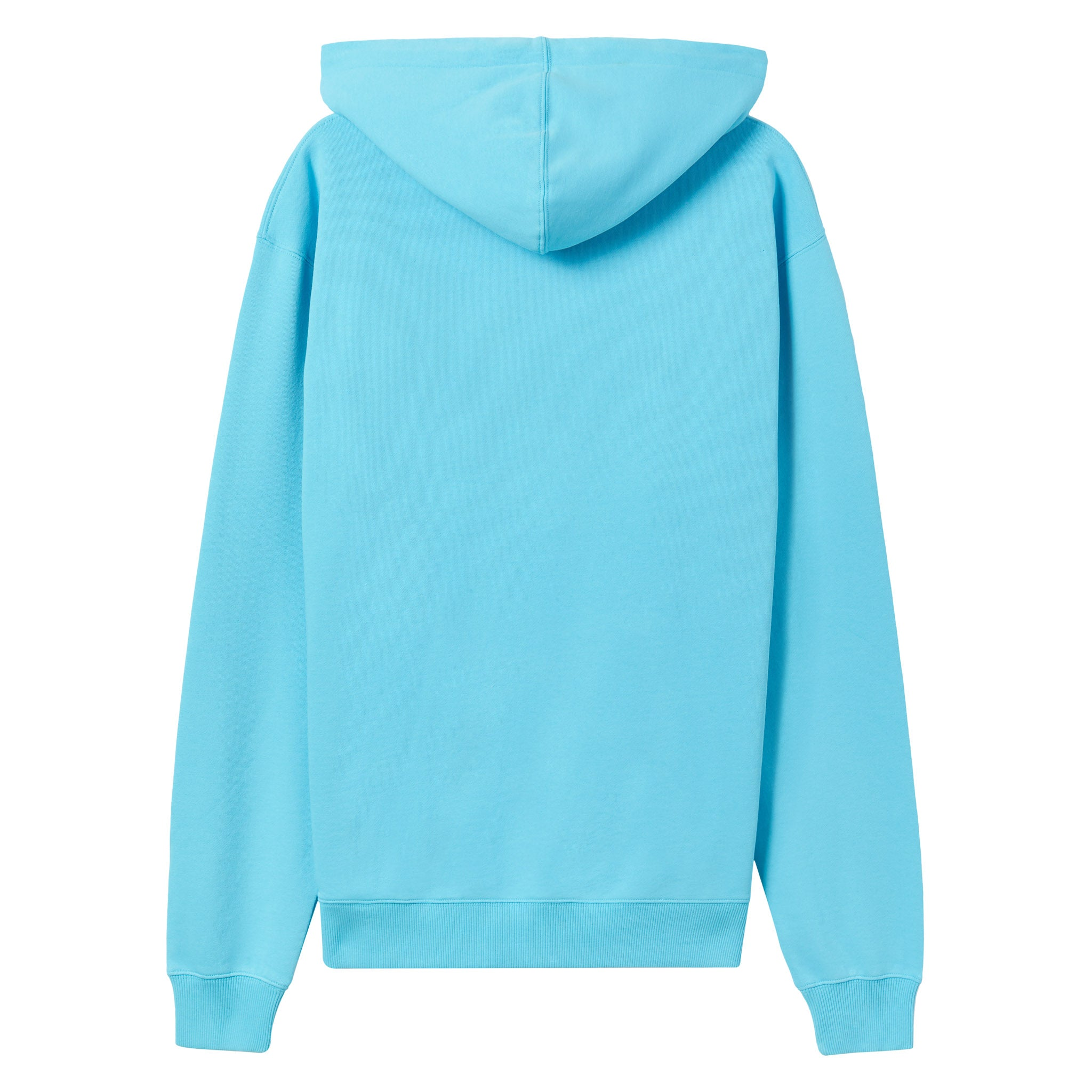 Gym logo hoodie - Pastel blue with Chalk White print