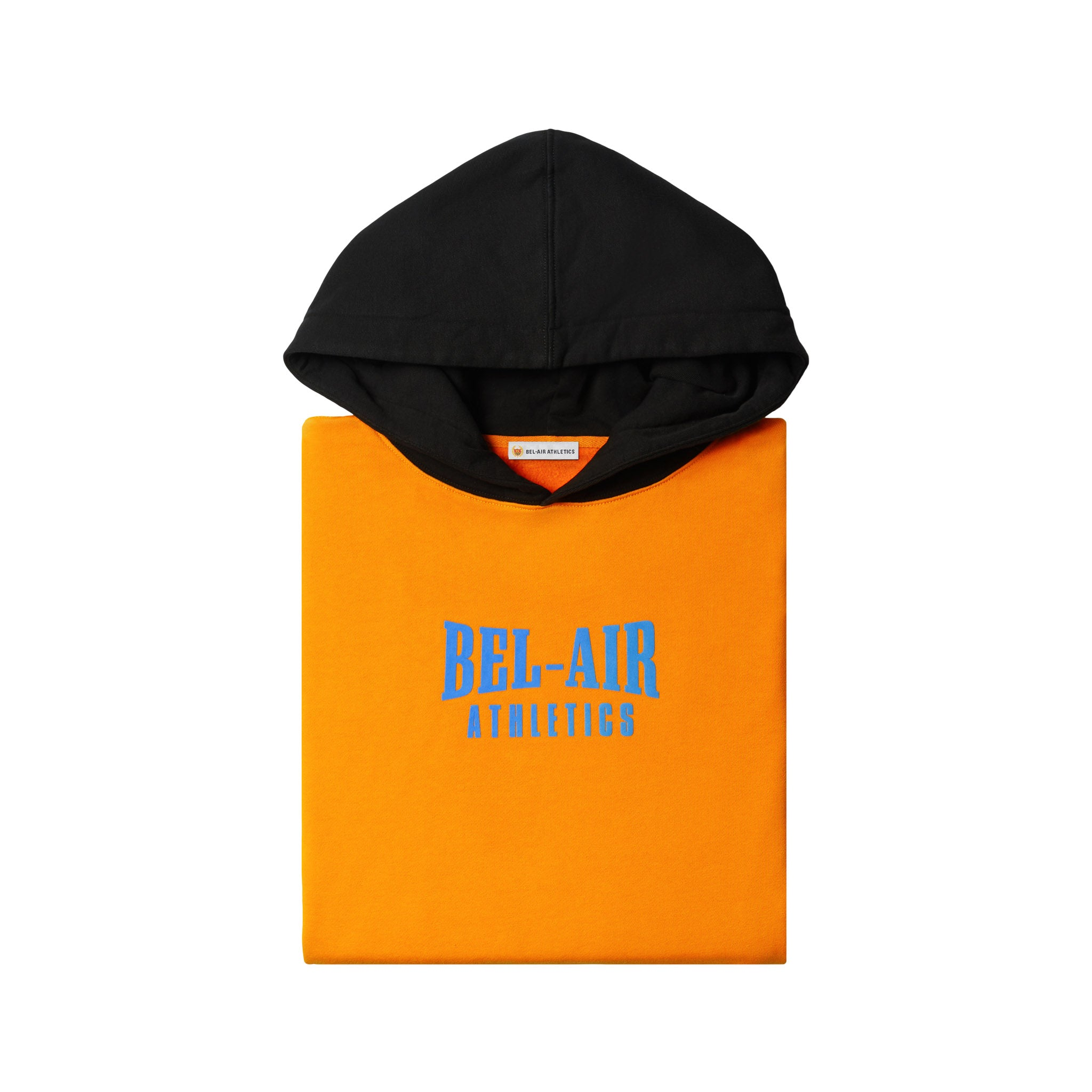 Puff logo hoodie - Coloblock Sunset/Vintage Black