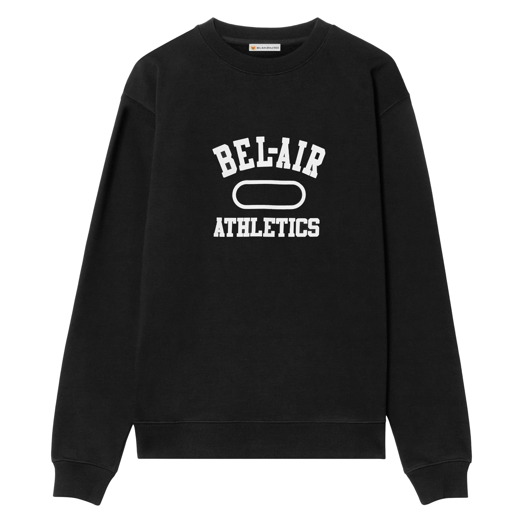 Gym Logo Crew Neck - Vintage Black with Chalk White print
