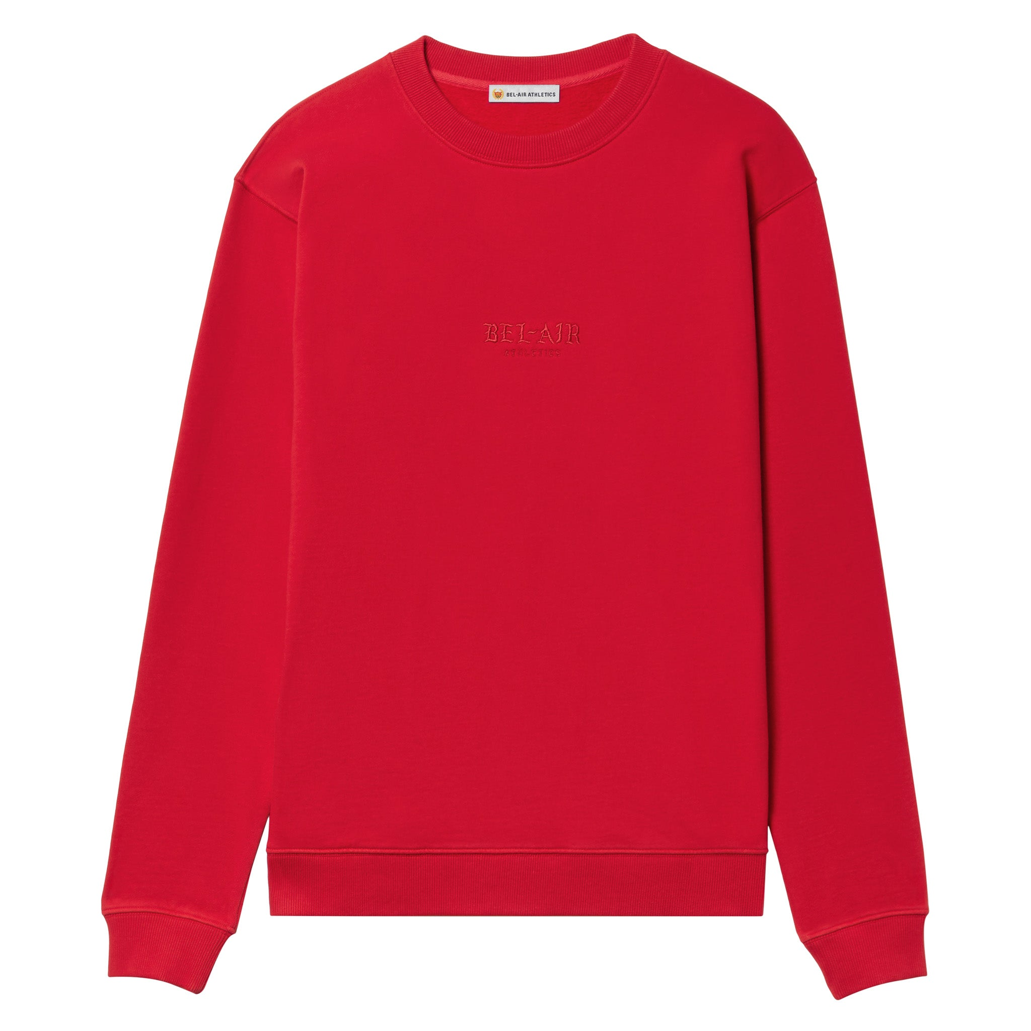 Gothic Font Crew Neck - ACADEMY RED