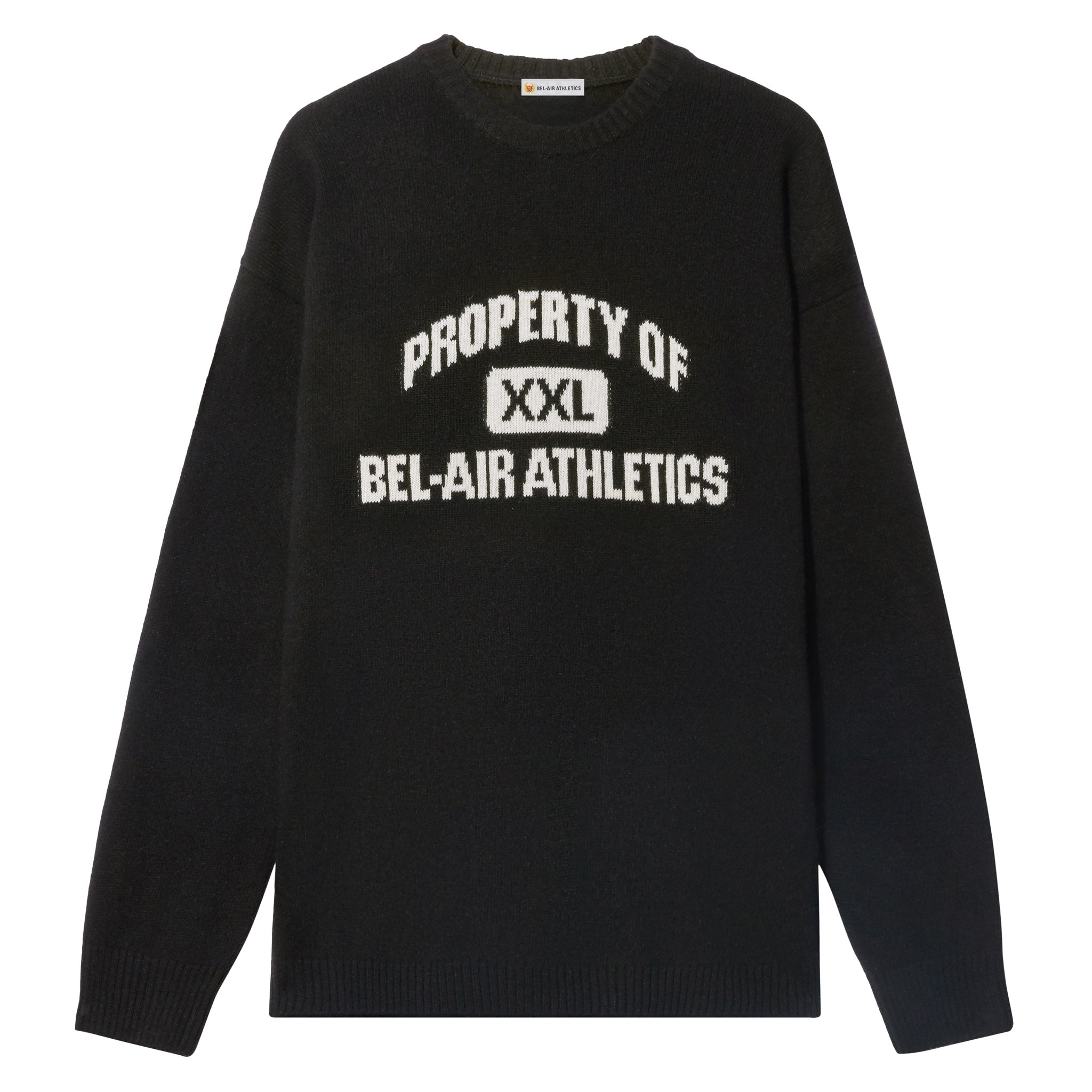 Property of Intarsia Knit - Vintage Black with Chalk White Intarsia