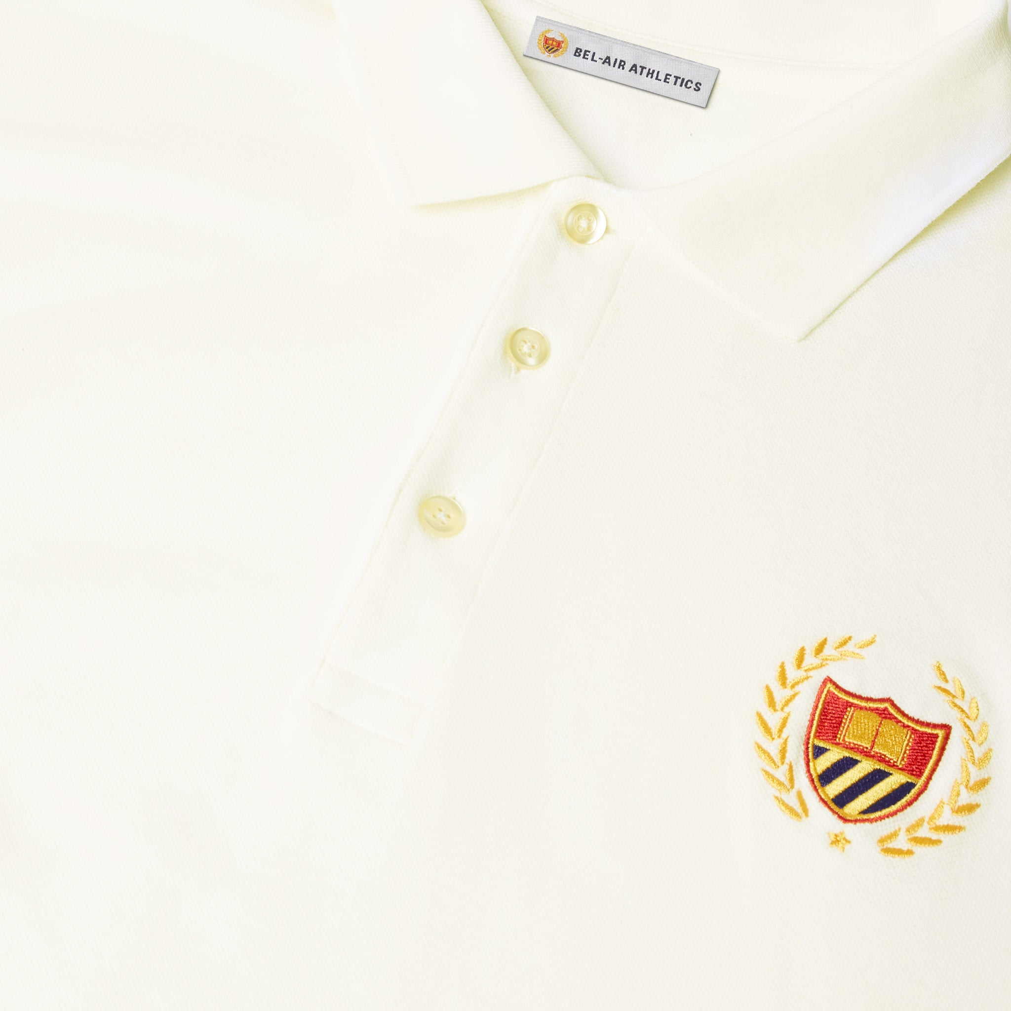 Academy Crest Polo - Notebook White