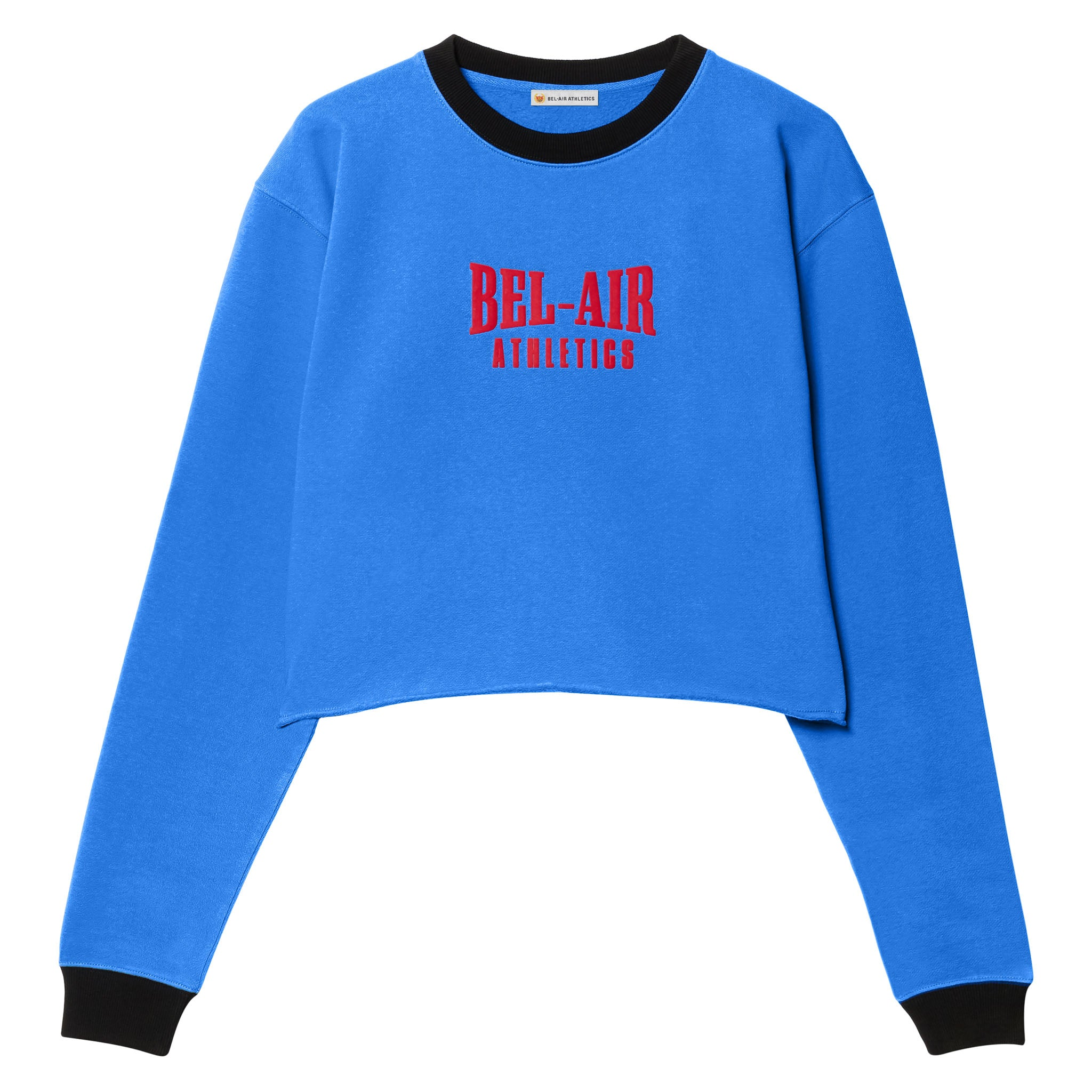 Puff logo cropped crew - Colorblock Varsity Blue/Vintage Black