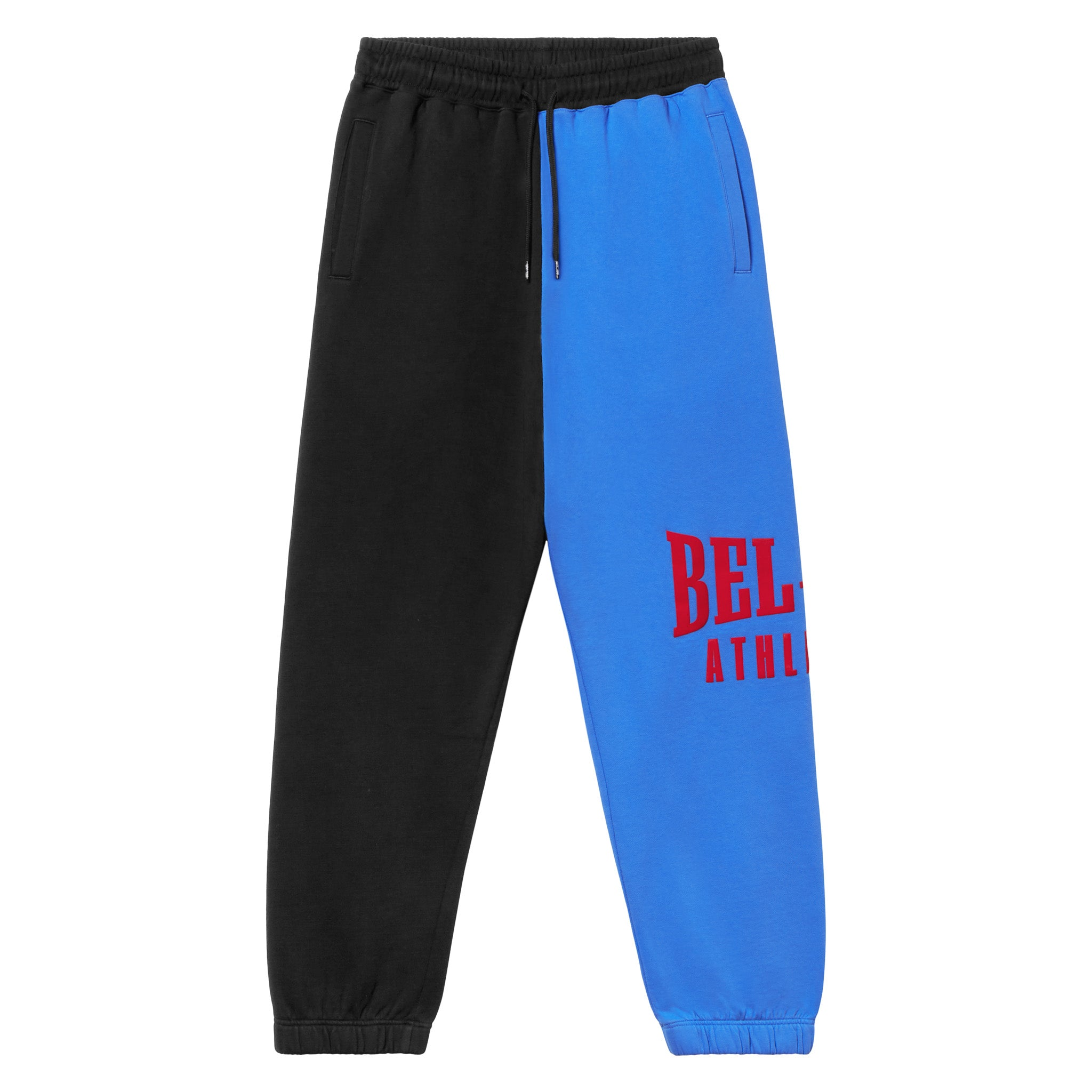 Puff Logo Sweatpant - Colorblock Varsity Blue/Vintage Black