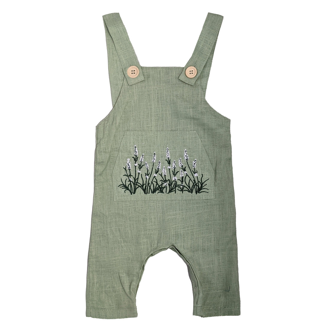 Lavender Field Linen Overall || Willow