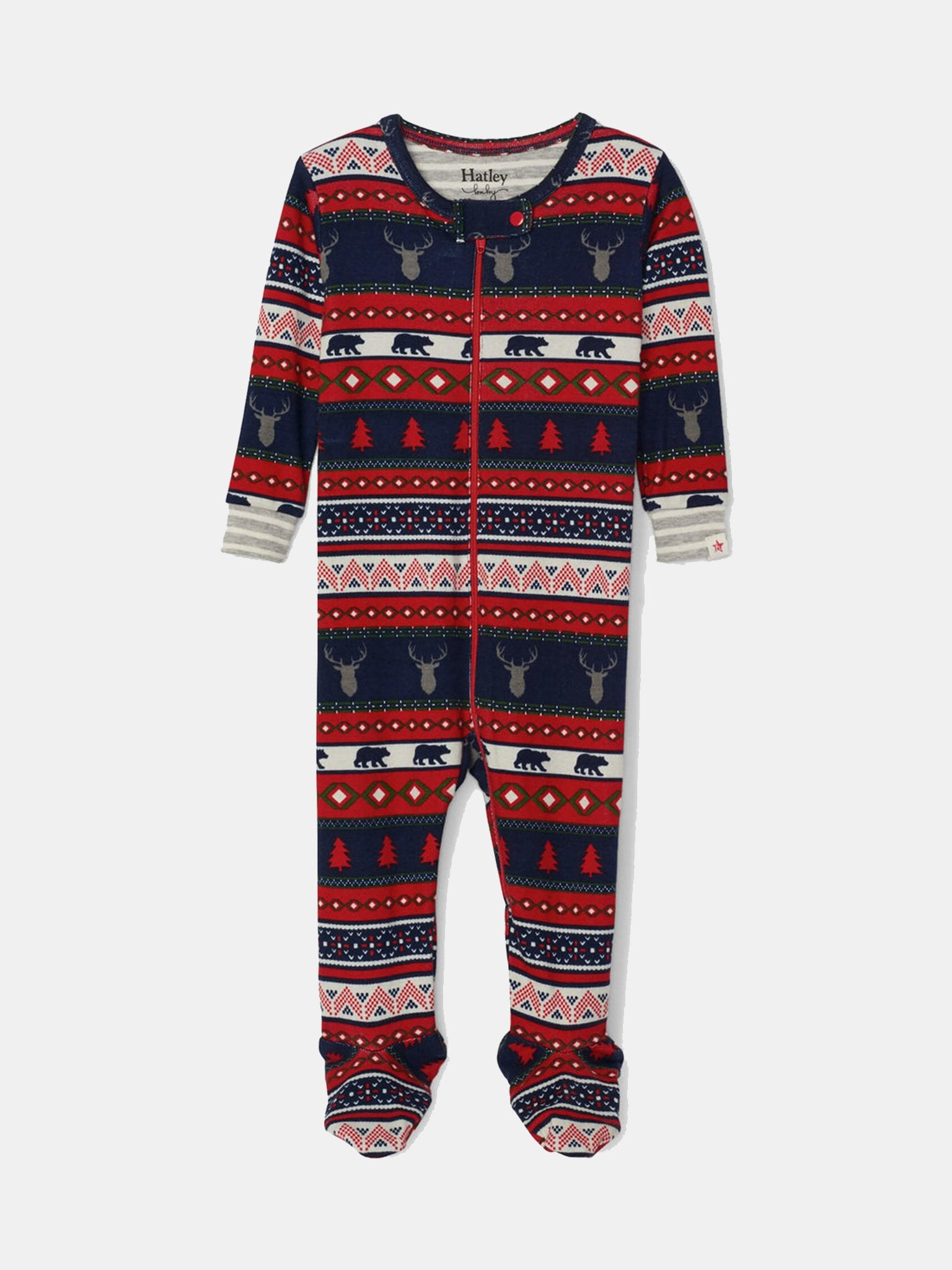 Fair Isle Stags Footed Coverall