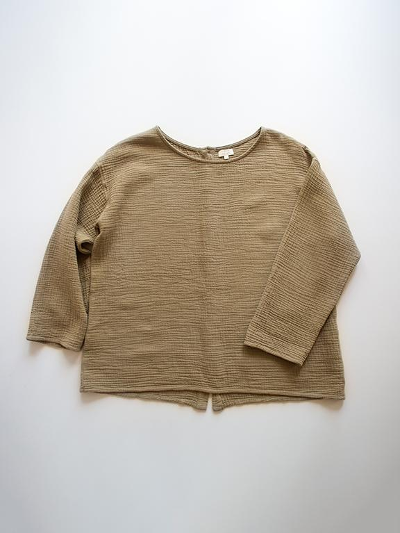 The Button Back Top || Camel