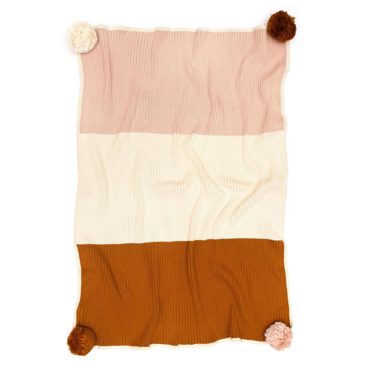 Multi Ribbed Blanket    Shell Pink