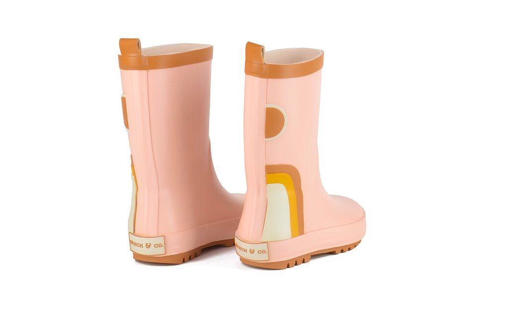 Natural Rubber Boots || Rainbow Shell