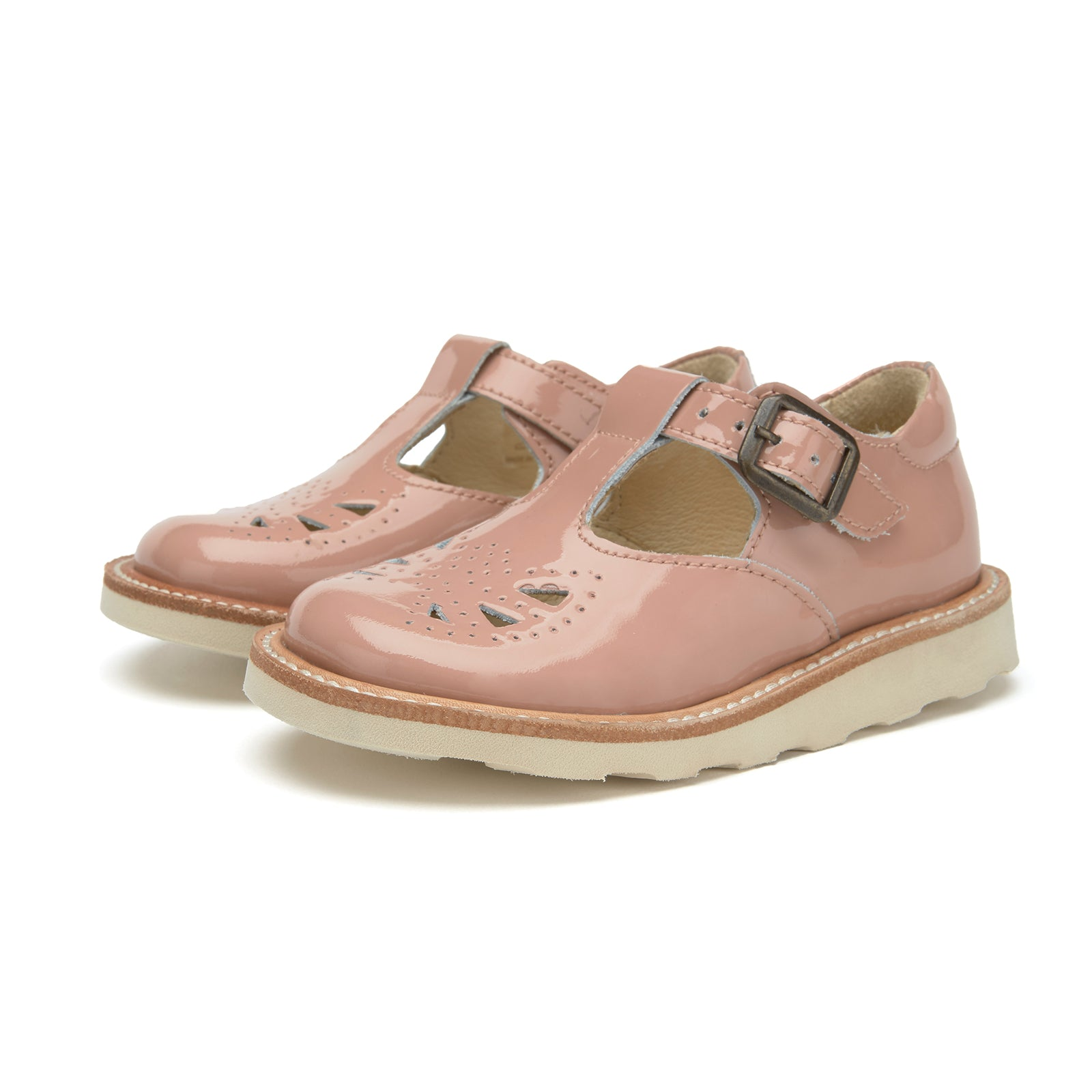 Rosie T-bar Shoe    Blush Pink Patent Leather