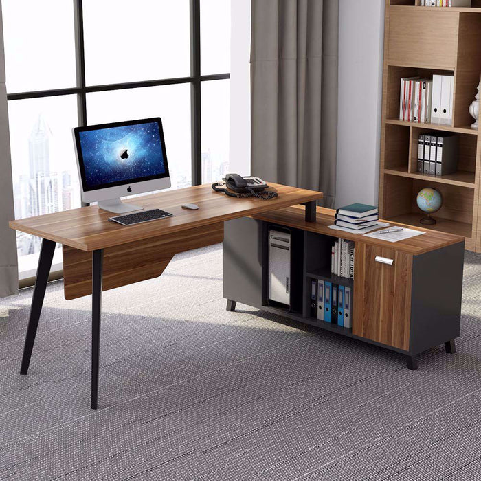 Tribesigns L-Shaped Desk, Large Executive Office Desk