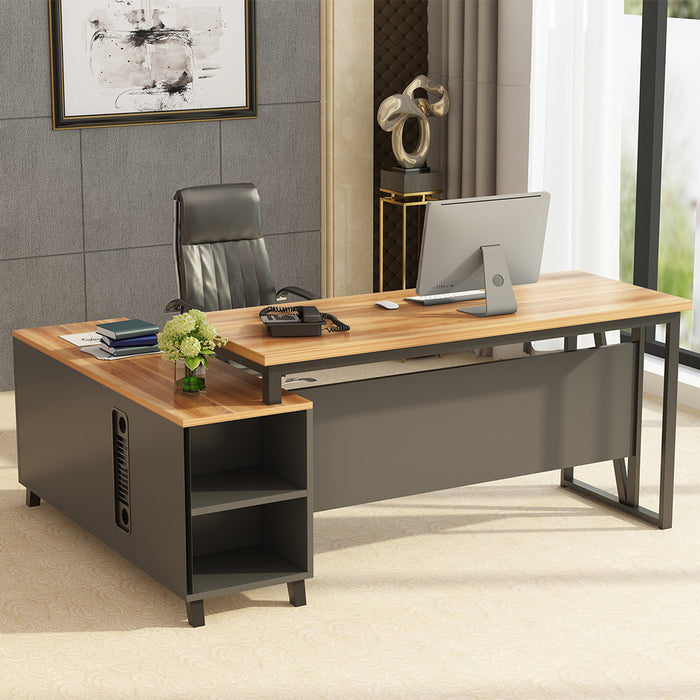 Tribesigns Large L-Shaped Desk, 55 Inches Executive Office Desk Computer Table