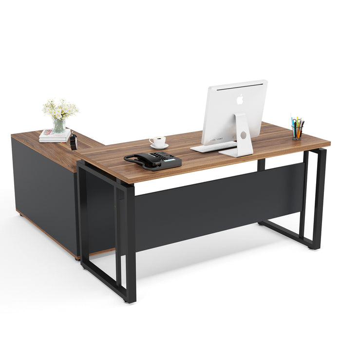 Tribesigns L-Shaped Computer Desk, Executive Desk Business Furniture