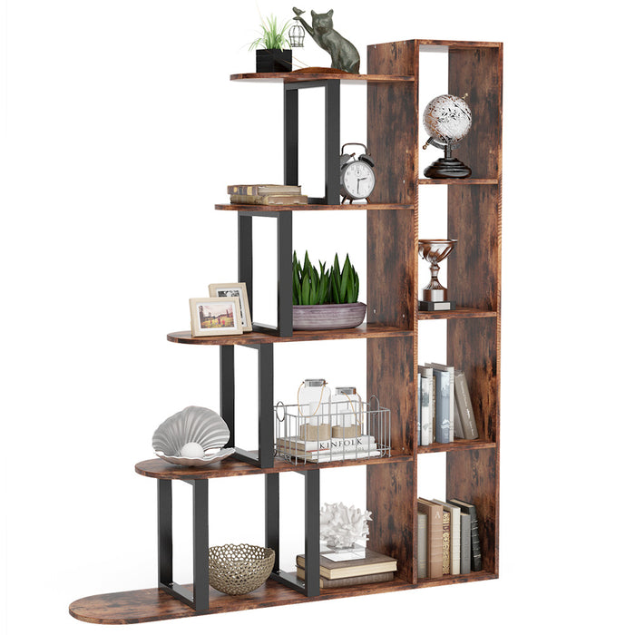 Tribesigns 5-Tier Vintage Bookshelf Industrial Bookcase