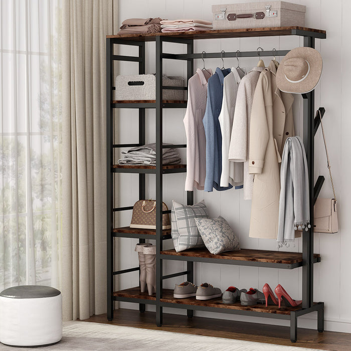 Tribesigns Free-standing Closet Organizer with Hooks