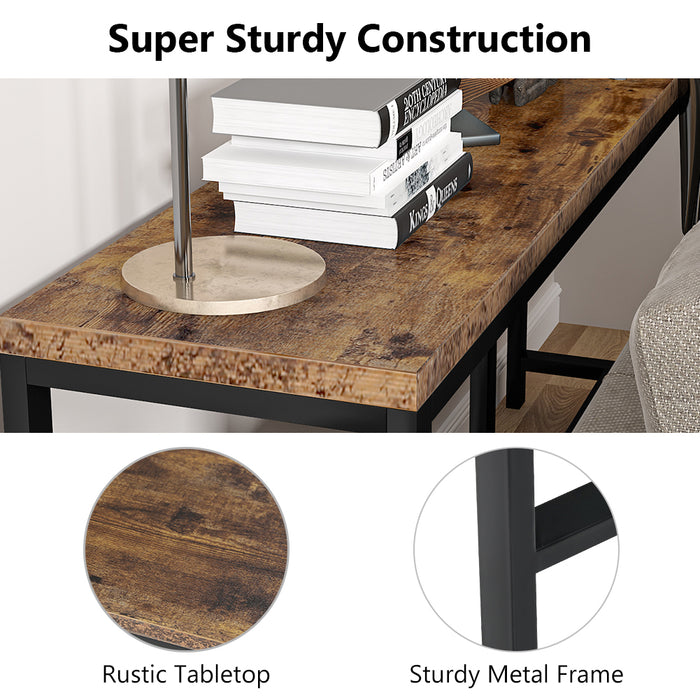 Tribesigns 70.9 inch Extra Long Sofa Table, Rustic Console Table Behind Sofa Couch
