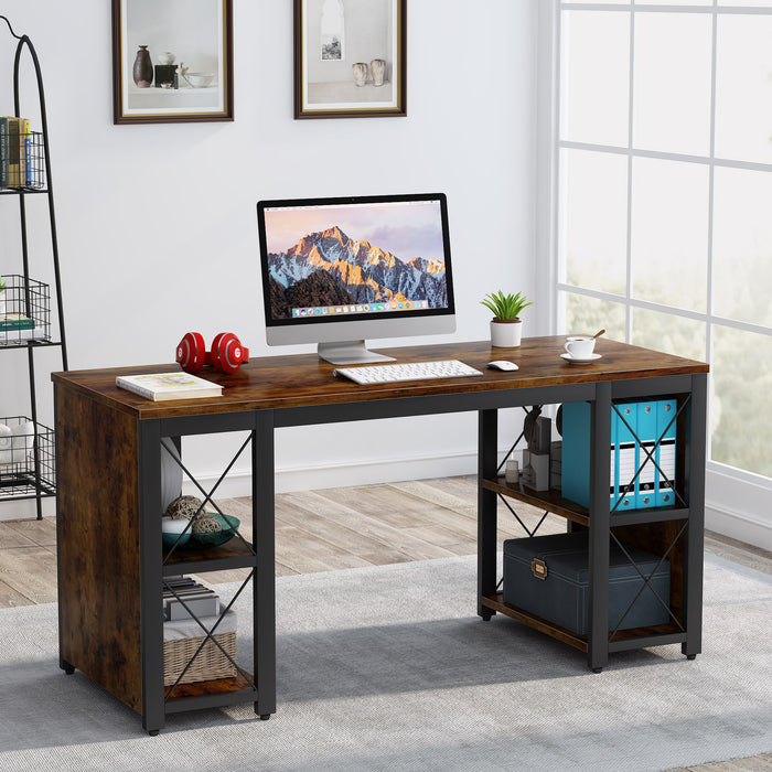 Tribesigns Computer Desk with Storage Shelves Writing Table for Home Office