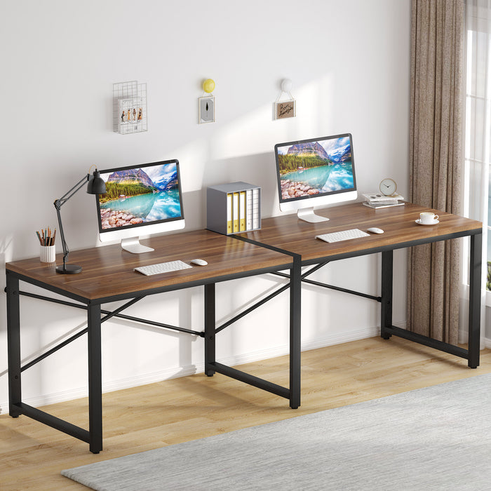 Tribesigns Computer Desk  Writing Table Two Person Desk for Home Office