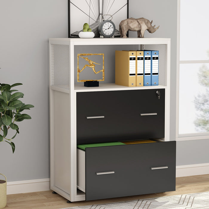 Tribesigns 2 Drawer Lateral File Cabinet with Lock