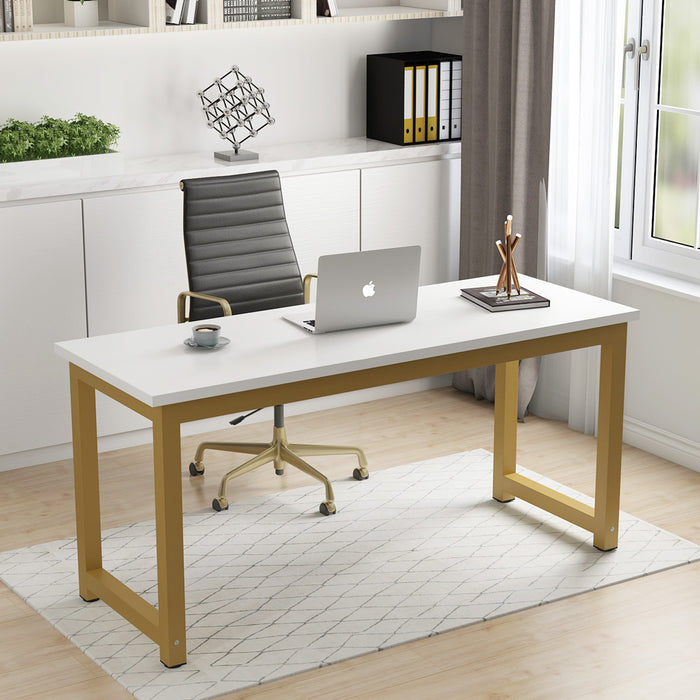 Tribesigns Computer Desk, Large Office Desk Computer Table Study Writing Desk for Home Office