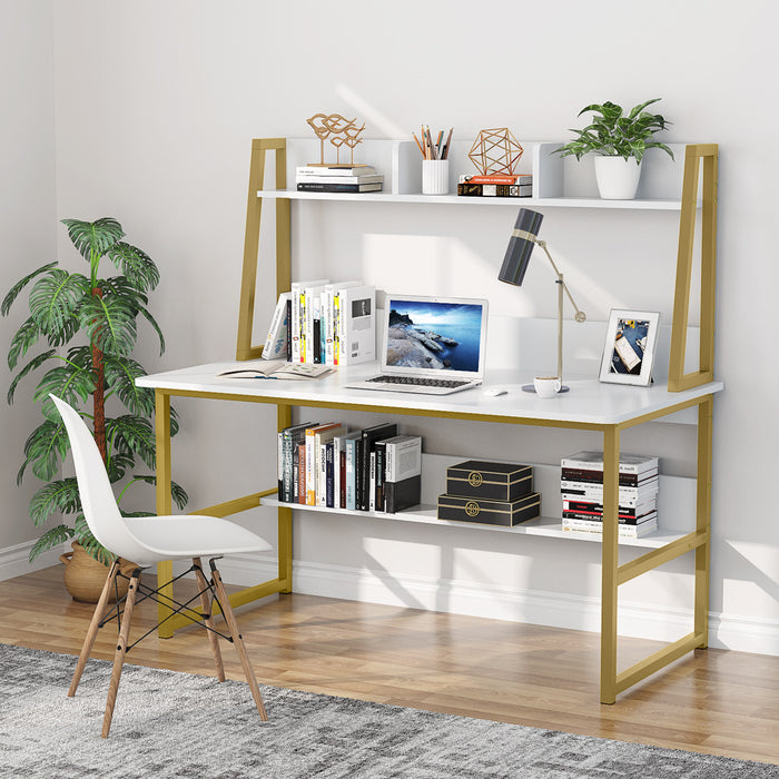Tribesigns Computer Desk with Hutch and Bookshelf